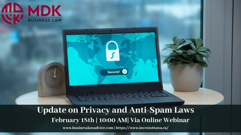 Update on Privacy and Anti Spam Laws   Draft (5)