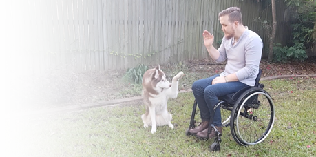Dog Trainer Tom & Clay the Siberian Husky