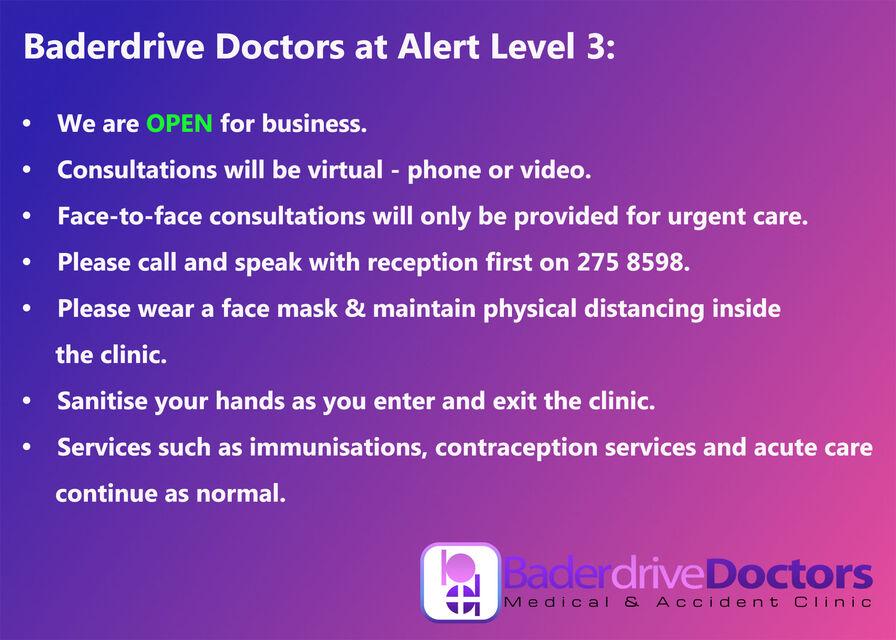 BD Alert Level 3 notice for online