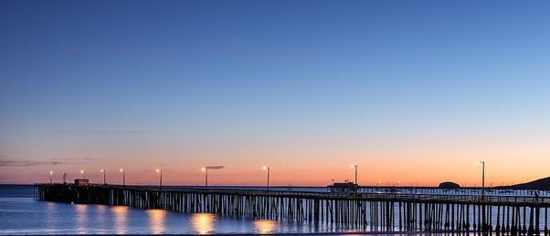 Avila Beach Pier is a location for one of our bike tour dinners
