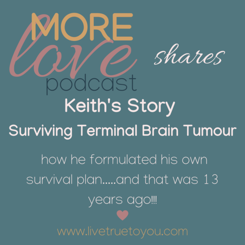 How he enjoyed surviving a terminal brain tumour by plugging into the source of all life, staying in communion with the source of life and formulating a real world plan to look after his health
