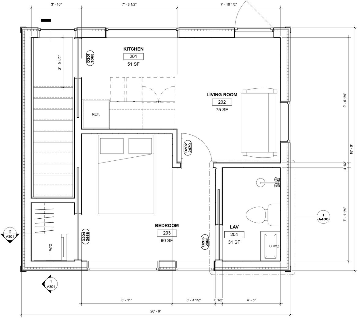 20190911 Somerville Studio 2ND FLOOR PLAN