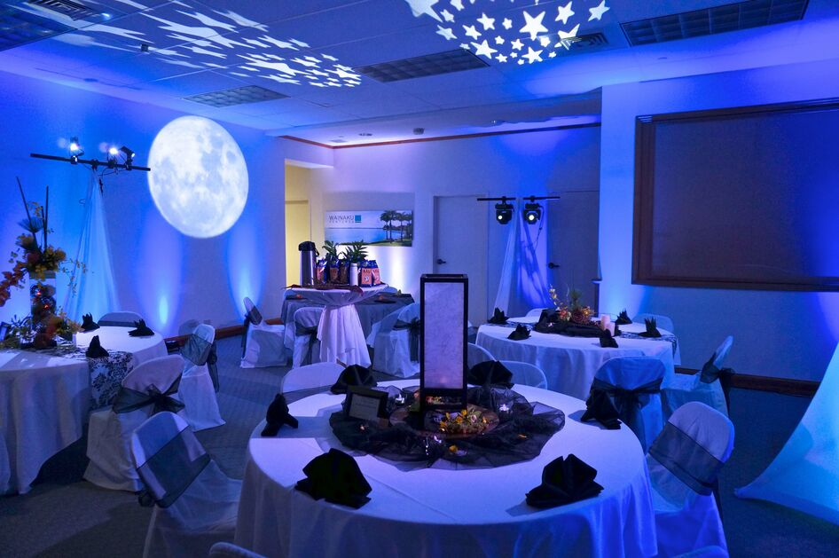 Blue moon Wainaku Executive Center Wedding Set up