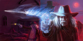 Cowboy ghost story. Wes Simpkins. Concept art. #Storyboardsnyc Science Fiction