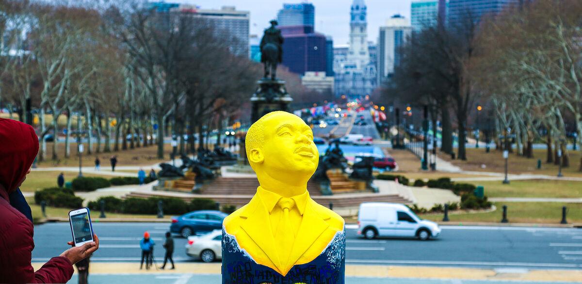 Philadelphia Museum of Art MLK bust by artist Shala