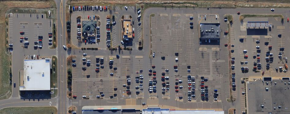 High Altitude Vertical Aerial Photo used for aerial mapping.