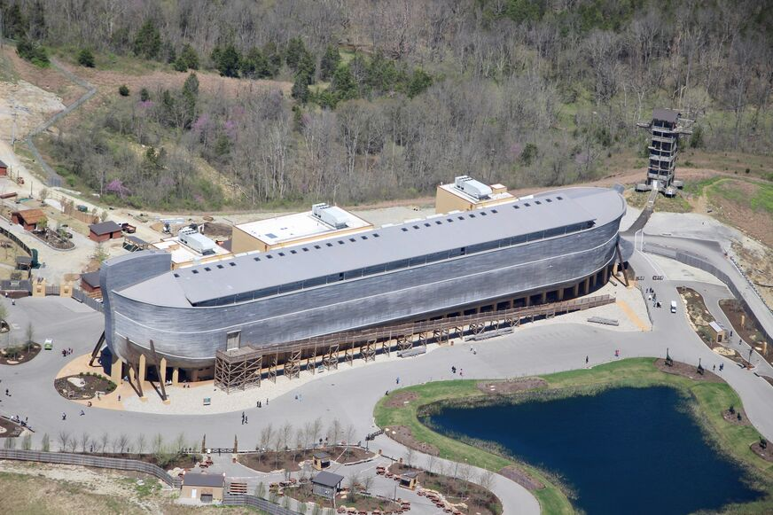 Aerial Photo of the Ark Encounter located in Williamstown, KY