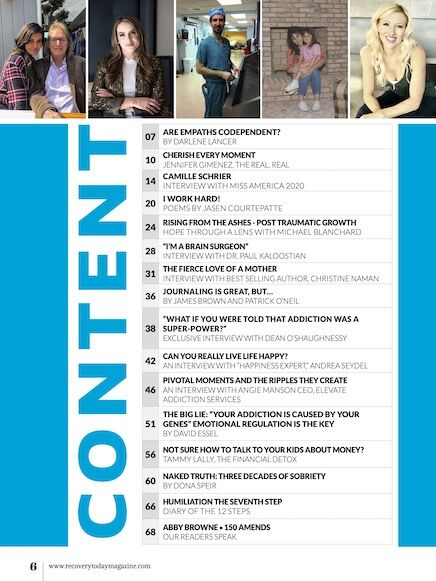 TOC RecoveryTodayMagazine Issue74 June 2021