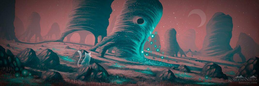 Scifi - Fantasy illustration. By Roberto Nieto - Syntetyc.com