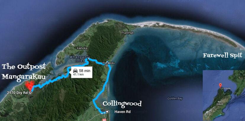 Map The Outpost Mangarakau