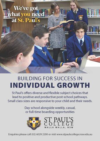 St Paul's  Ad Build Growth A6 Portrait