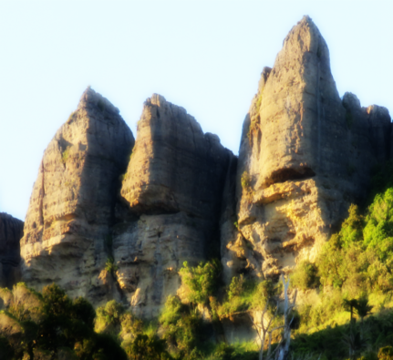 Magical Mangarakau cliffs, The Outpost.