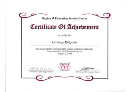 Linroy Kilgore 2019 2020 Superintendent