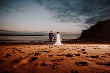 oxwich bay beach wedding photography