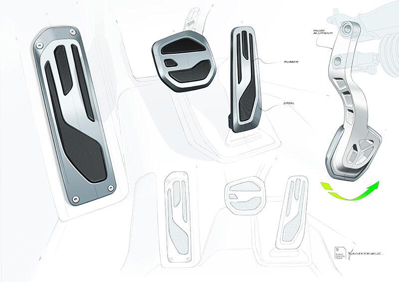 Nevera sketch detail 08 pedals