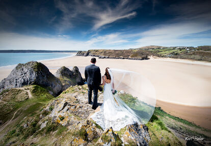 Oldwalls Gower weddings by Karl Baker photography.