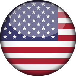 united states of america flag 3d round icon 256