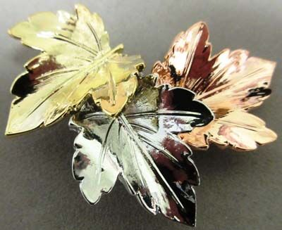 Three leaves on a brooch