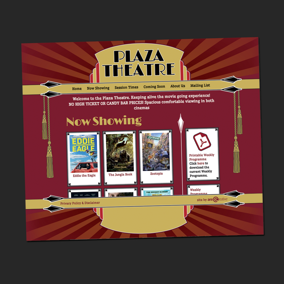 UI and UX design for the Plaza Hotel in Laurieton.