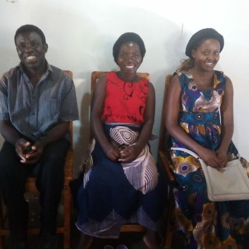 These are three of our Moringa ambassadors. A total of 56 volunteers will be trained in everything about Moringa.