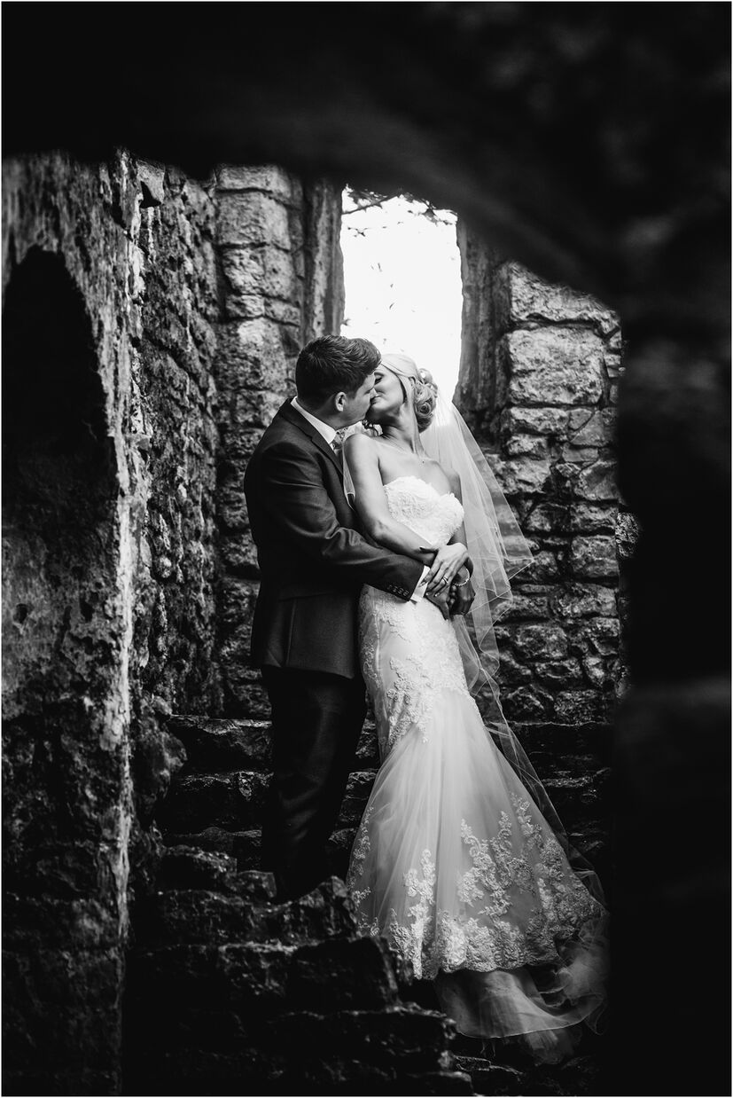 Oxwich bay wedding photography at Oxwich Castle by Karl Baker photography