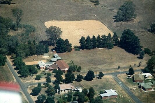 An aerial view of development at St John's, pre 1990