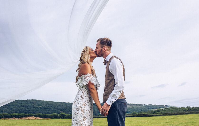 Jade and Tom, veil wedding photography