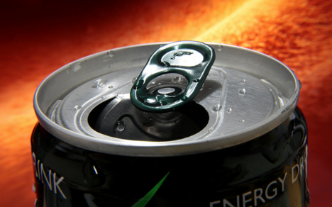 A closeup of the top of a nootropic energy drink.