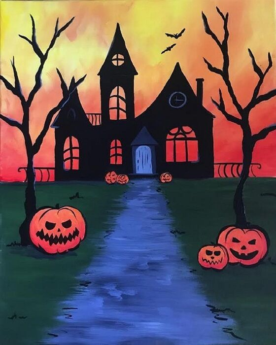Halloween pumpkin spooky haunted house
