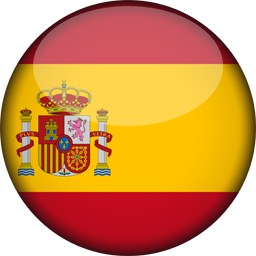 spain flag 3d round icon 256
