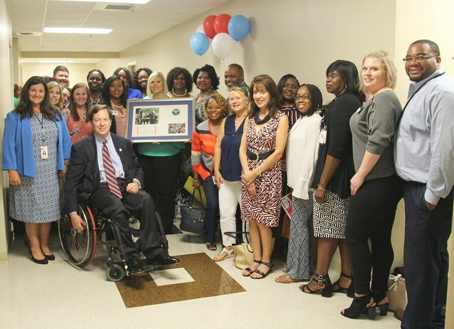 Picture of Disability:IN Alabama and The Montgomery Area Committee on the employment of people with disabilities celebrating the 29th anniversary of the ADA