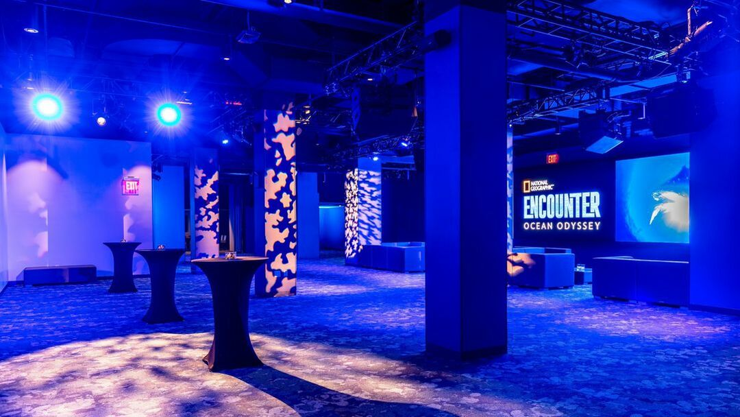 Interior lobby of National Geographic Encounter continue to venue page