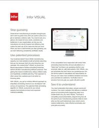Infor VISUAL Manufacturing ERP Brochure