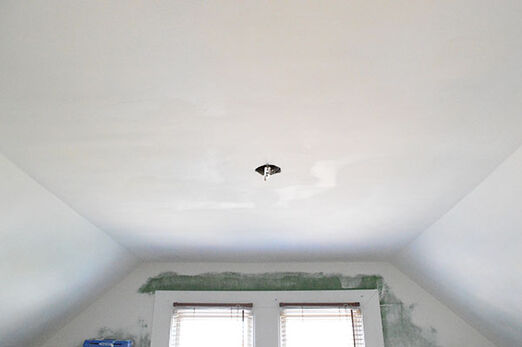 This ceiling was stipple but we converted it into flat ceilings.