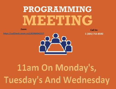 programming meeting flyer made by jose