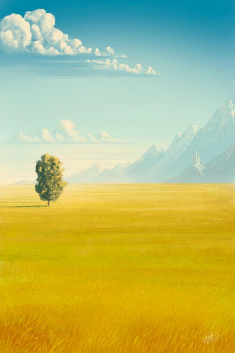 Fantasy landscape painting. By Roberto Nieto - Syntetyc.com