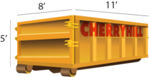 12 Yard dumpster rental - Cherry Hill Construction Inc.