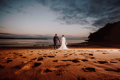 Oxwich bay wedding photography by Karl Baker photography