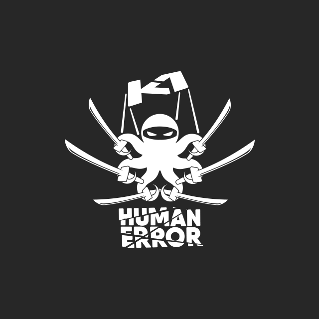 Brand Design of Katana 1 sub brand called Human Error.
