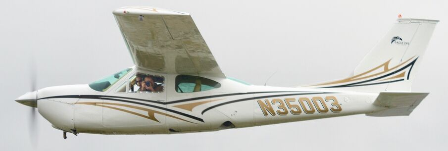 Our Cessna 177RG on an aerial photo mission