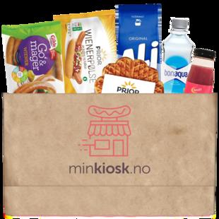 Sunnere pakke med kioskvarer fra minkiosk