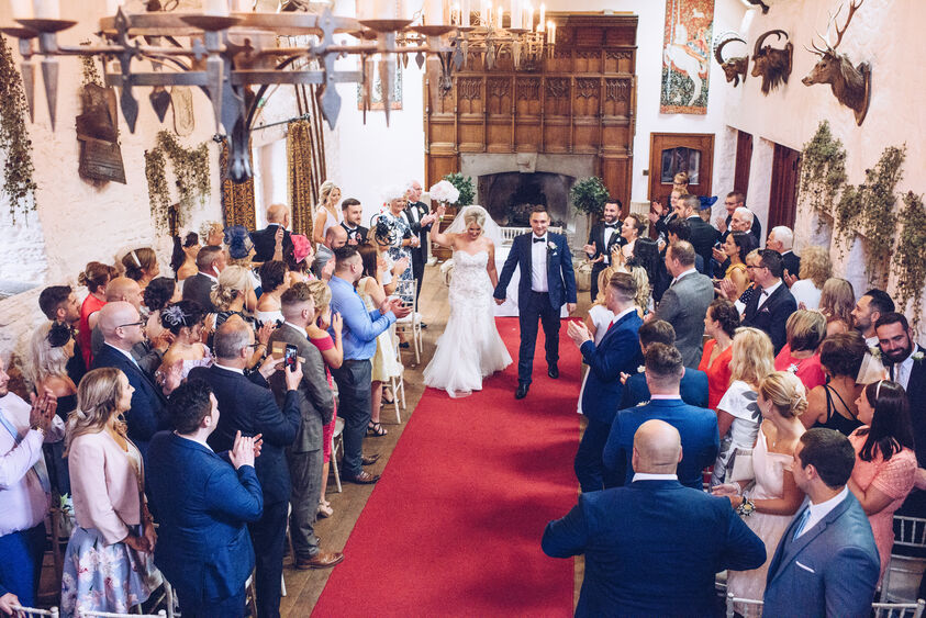 Miskin Manor wedding ceremony photography by Karl Baker