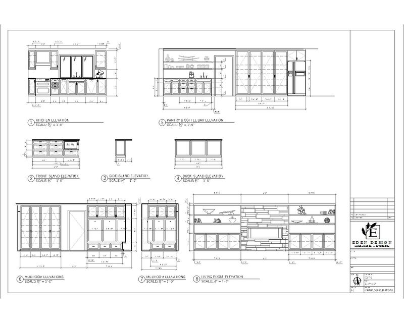 main floor renovation elevation autoCAD Drawings