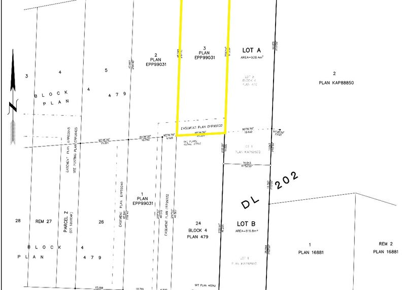 Lot Plan, cropped sml   Lot 3 561 Vancouver Ave