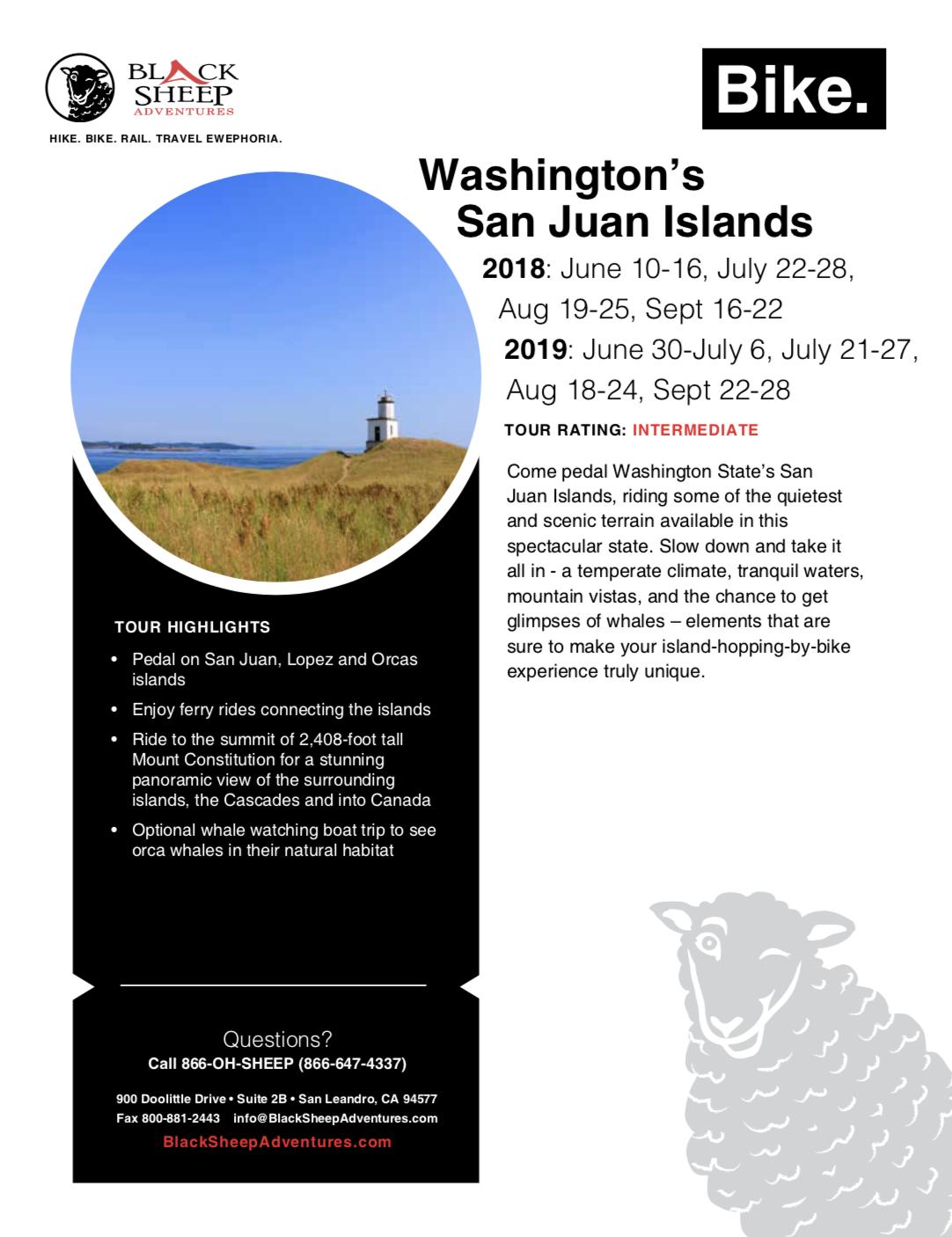 Washington's San Juan Islands Bike Tour - Black Sheep Adventures