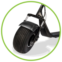 Phat Golf Scooters fat wheel in black
