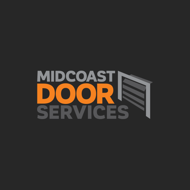 Brand identity for Midcoast Door Services based in Port Macquarie.