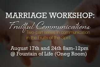 Marriage workshop web page
