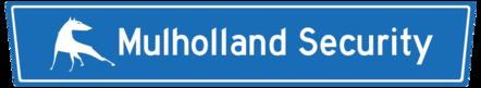 Mulholland Security Logo dog blue sign
