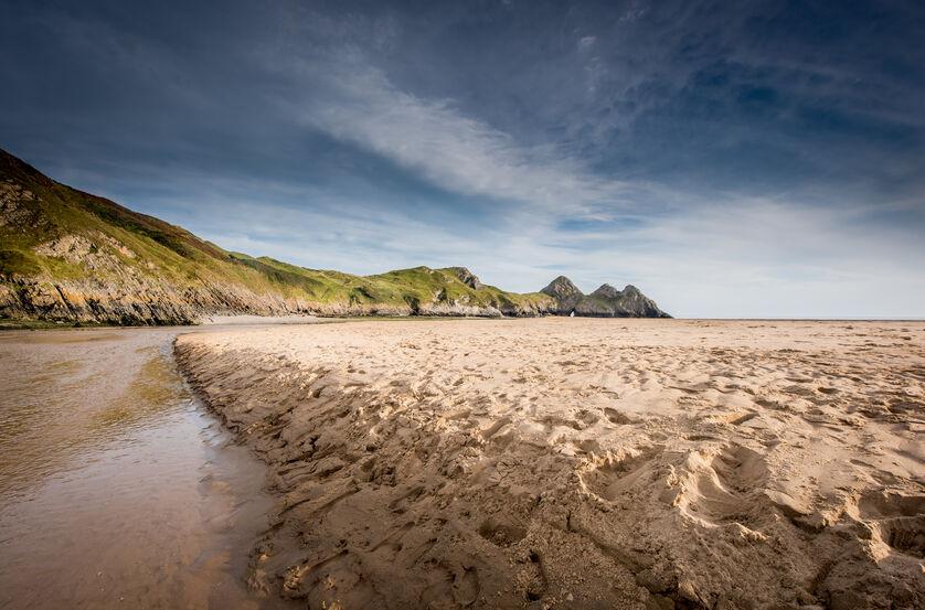 Three cliffs bay landscape photography